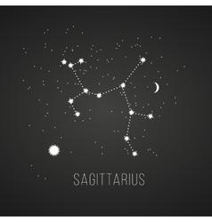 Astrology sign sagittarius on chalkboard vector