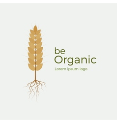 Be organic logo vector