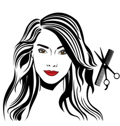 Care of hair vector image