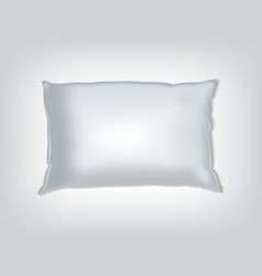 Clean white pillow mockup vector