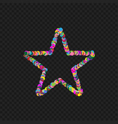 colorful star shape vector image
