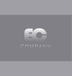 Ec e c pastel blue letter combination logo icon vector