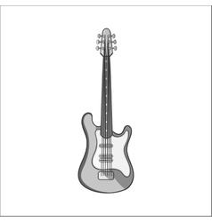 Electric guitar icon black monochrome style vector image