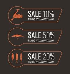 Fishing Sale Banner Set vector image
