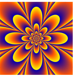 Floral psychedelic pattern vector