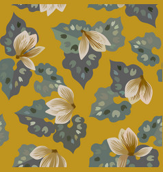 floral seamless pattern of cyclamen flowers vector image vector image