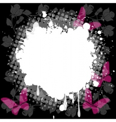 floral splash background vector image