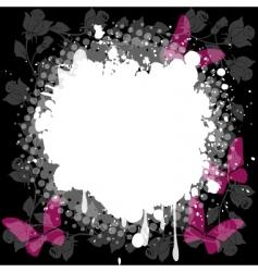 floral splash background vector image vector image