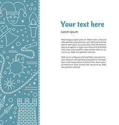 Flyer poster template with medieval line icons vector image vector image