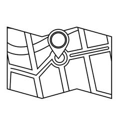 Gps icon map design graphic vector