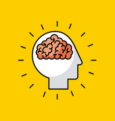 Head brain illstration vector