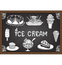 Ice cream and desserts vector image