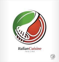 pasta logo spaghetti symbol vector image