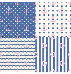 pattern navy set vector image vector image
