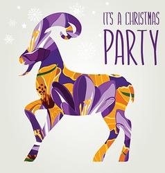 Poster goat vector