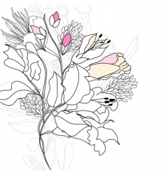 romantic flowers vector image vector image