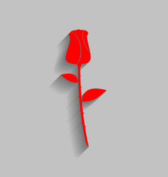 Rose sign red icon with soft vector