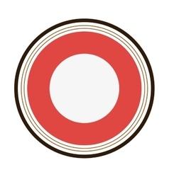 round badge icon vector image vector image