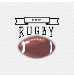 Rugby badges logos and labels for any use vector image vector image