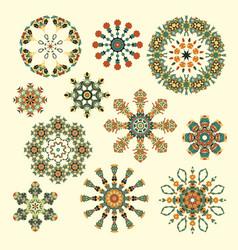 set of abstract circular elements vector image