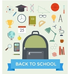 Set of education objects vector