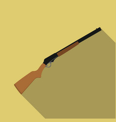 shotgun icon flate singe western icon from the vector image vector image