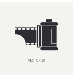 Silhouette icon with film for retro analog vector