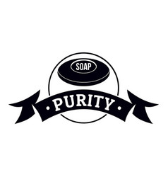 Soap purity logo simple black style vector