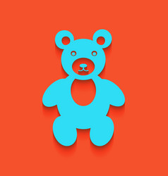Teddy bear sign whitish icon vector