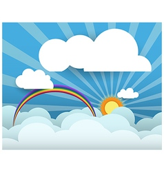 White cloud on sky blue background with space vector image