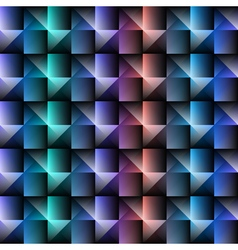 3d square mosaic seamless pattern vintage colorful vector