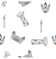Castle pattern cartoon style vector