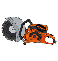Orange circular saw vector