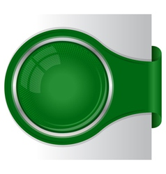 Modern green banner with circle frame vector