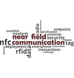 word cloud - near field communication vector image