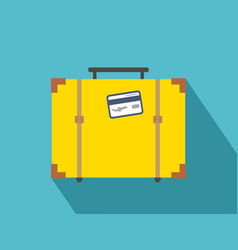 vintage travel suitcases flat icon with long vector image