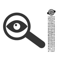 Investigate icon with men bonus vector
