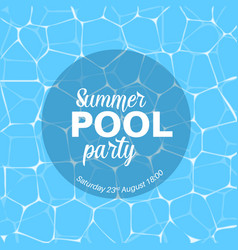 Pool party template vector