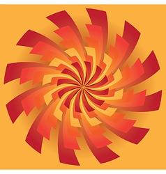Spinning radiating sun rays vector image