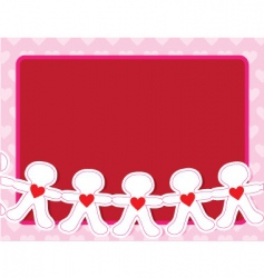 paper dolls vector image