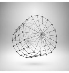 Wireframe mesh polygonal cylinder vector