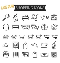 Set of on-line shopping icons isolated on white vector