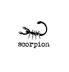 Abstract scorpion design template vector