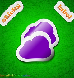 Cloud icon sign symbol chic colored sticky label vector