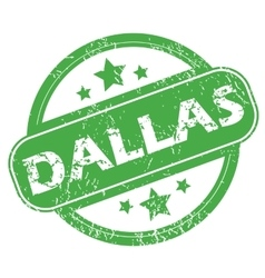 Dallas green stamp vector
