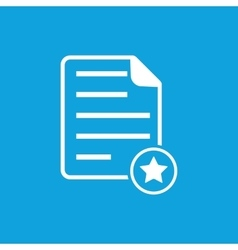 Favorite document icon vector