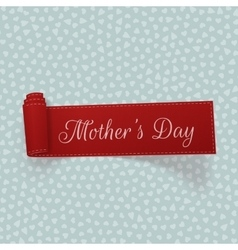 Mothers day realistic scroll ribbon vector