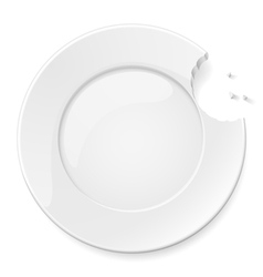 Abstract bitten plate vector