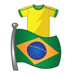 Brazil flag jersey vector image vector image