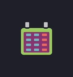 Calendar computer symbol vector image